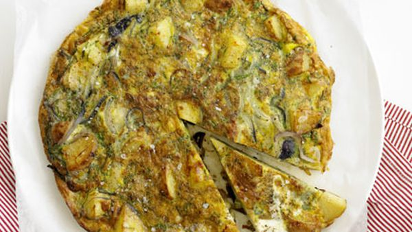 Potato and herb tortilla