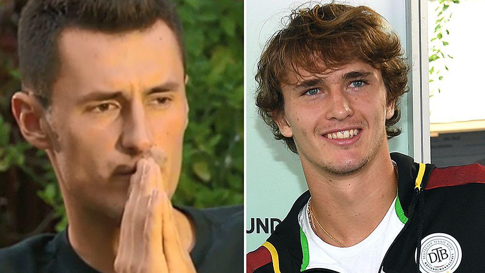 Tennis: Alexander Zverev takes aim at Bernard Tomic before Davis Cup clash
