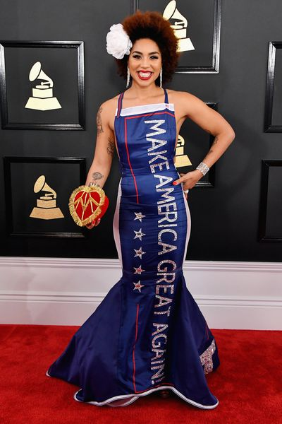 Joy Villa at the The 59th Grammy Awards in Los Angeles, February, 2017