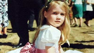 Lady Kitty Spencer as a child, via Instagram