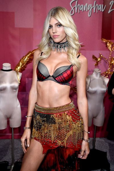 Devon Windsor at the Victoria's Secret 2017 runway show in Shanghai.