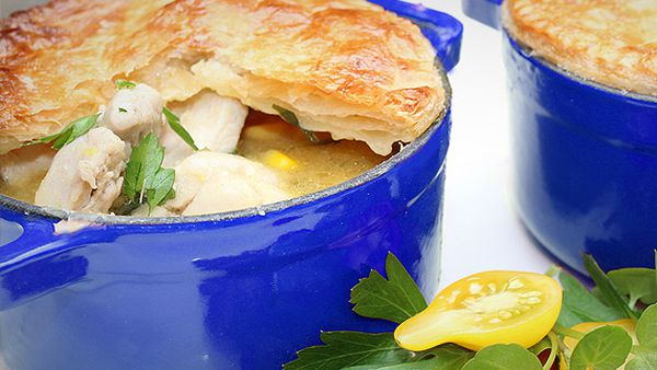 Rosella's chicken and corn pot pies