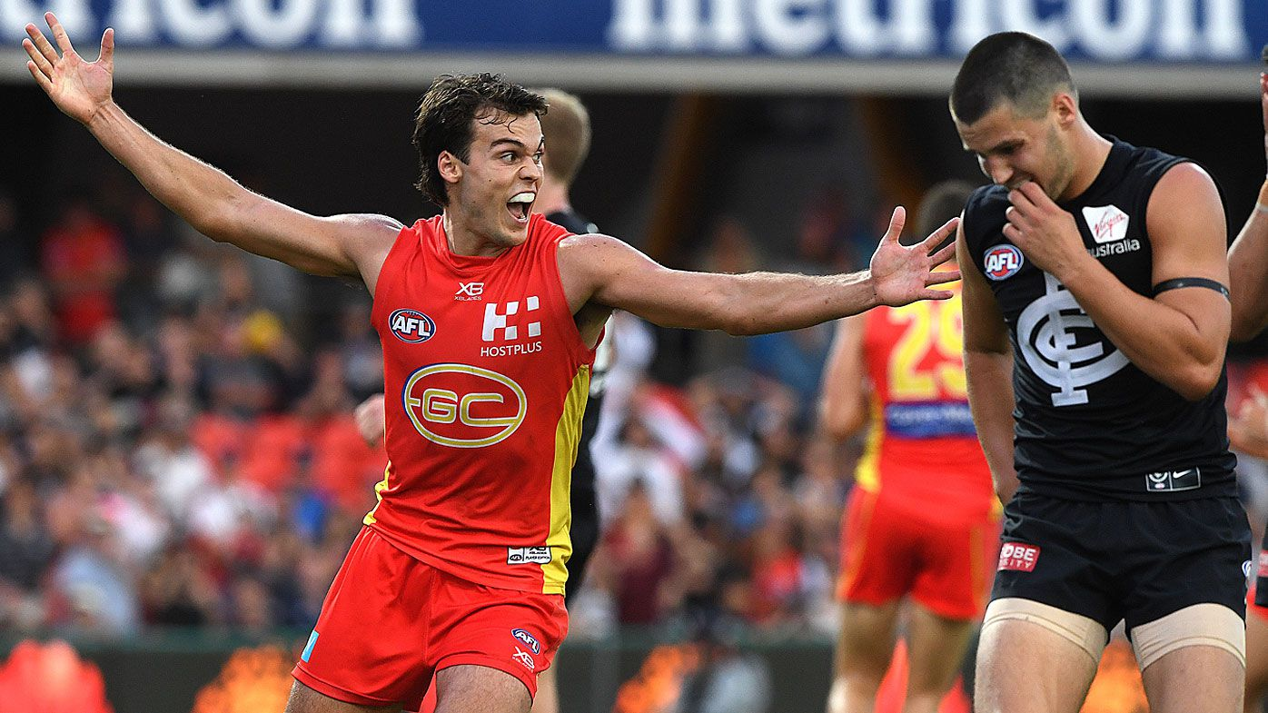 Jack Bowes snatches victory for Gold Coast Suns against winless Carlton Blues