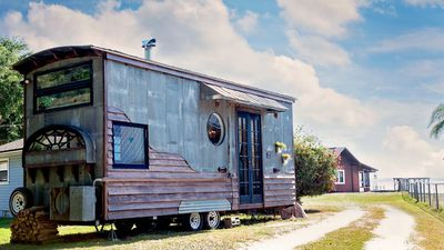 This $20k Mediterranean-inspired tiny home has its own pizza oven