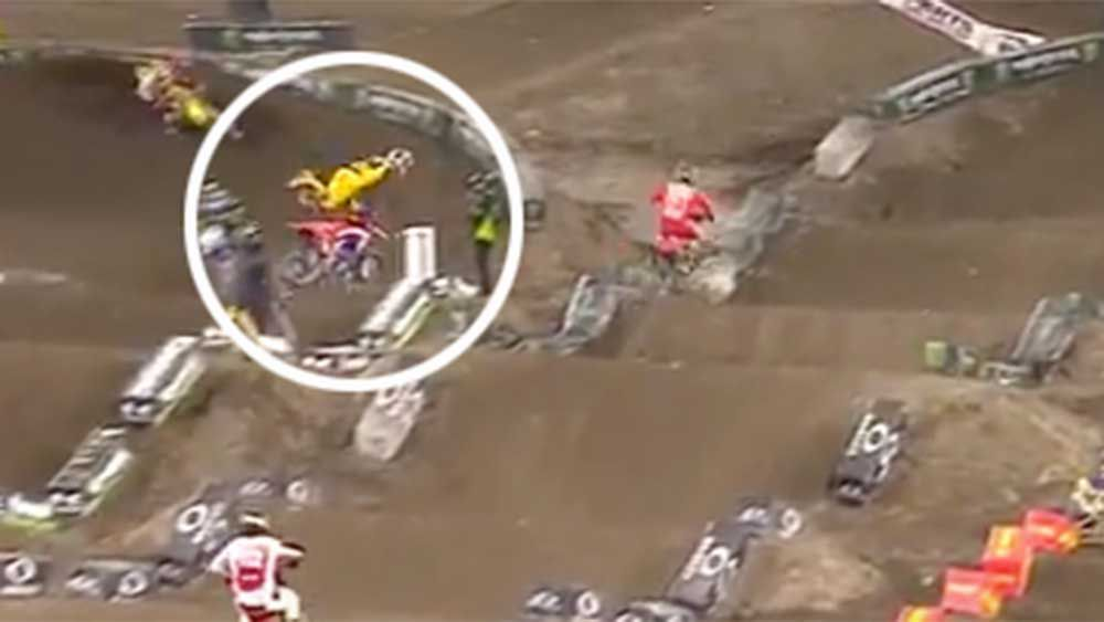 Motorsport: Supercross rider takes off after botched jump