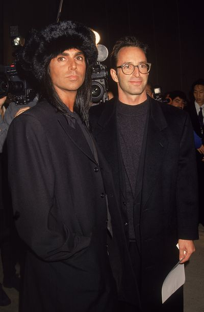 Steven Meisel with Herb Ritts in 1990.