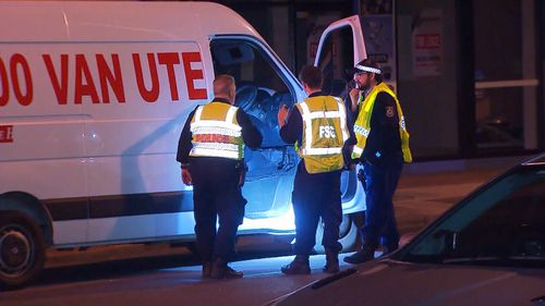 The van's owner told police the man who tried to take it had difficulty driving it. Picture: 9NEWS