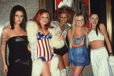 In 1997, the Spice Girls were born... and union jack dresses were all the rage.<br/><br/>Posh Spice aka Victoria Beckham's uniform of choice in the nineties? Leather bandage dresses, chunky arm cuffs and vampishly-teased locks... <br/>