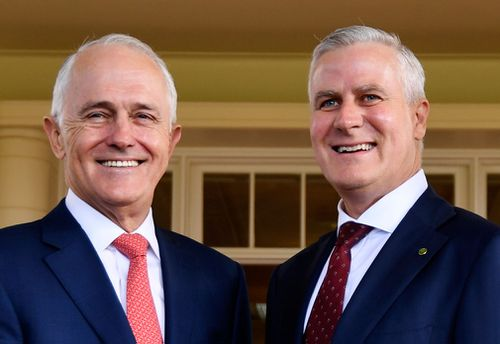 Mr McCormack and Prime Minister Malcolm Turnbull. (AAP)