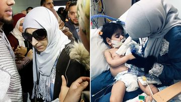 After battling US immigration authorities for more than a year for the right to enter the country and flying halfway around the world, a Yemeni mother finally got to hold her dying two-year-old son.