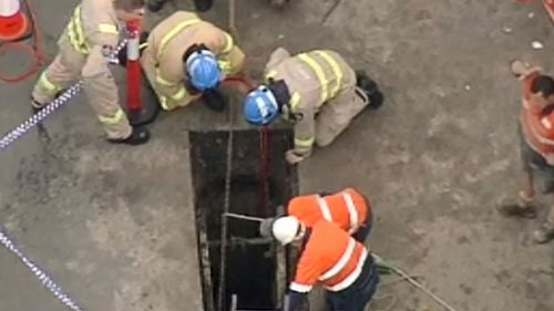 A trench has collapsed. (9NEWS)