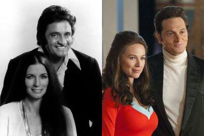 Left: June Carter Cash and Johnny Cash / Right: Jewel Kilcher and Matt Ross