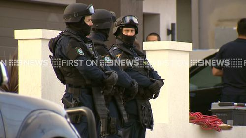 Around 200 officers were involved in the operation. (9NEWS)