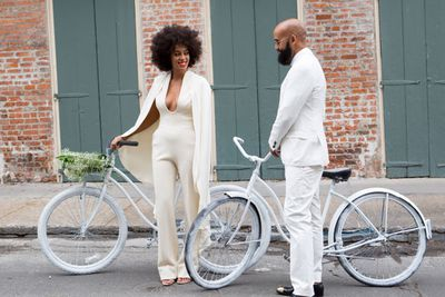 Earlier this year, Solange Knowles also got married. Keep on sliding to see how the all-white wedding just werks!<br><br>Image: Getty