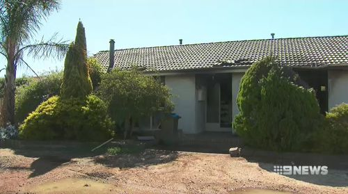 The property is expected to be demolished due to the significant damage the inferno caused inside of the house. Picture: 9NEWS.