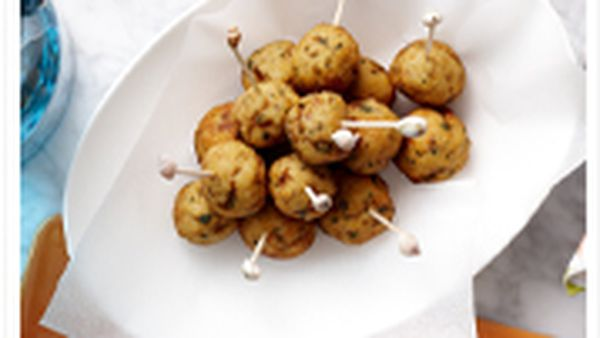 Fish balls with dill mayonnaise