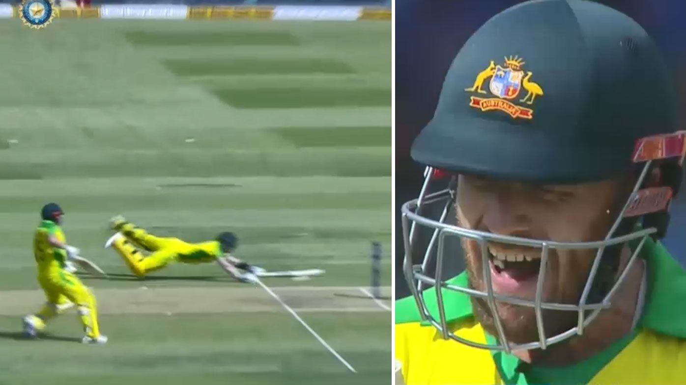 Aaron Finch fumes after run out