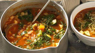 "Recipe:<a href=""http://kitchen.nine.com.au/2016/05/05/16/06/minestrone-soup"" target=""_top"" draggable=""false"">Minestrone soup<br> </a>"