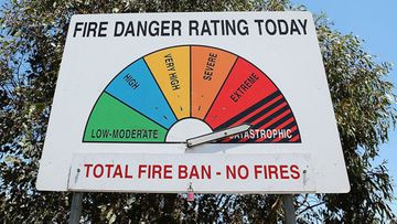 A total fire ban is in place in South Australia.