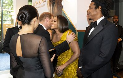 The Duke and Duchess of Sussex meet with Beyonce and Jay-Z.