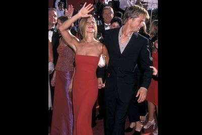 Wow! THAT red dress at the 2000 Emmys made sure all eyes were on her.