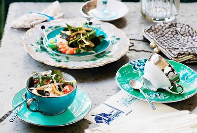 Pork, prawn and watercress salad