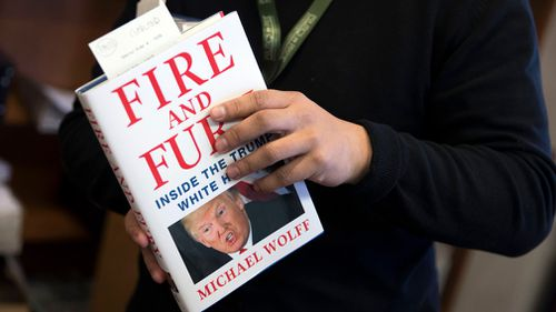 "A presold copy of Michael Wolff's book ""Fire and Fury"", the tell all about the Trump White House. (AAP)"