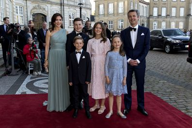 Crown Princess Mary of Denmark and her four children.