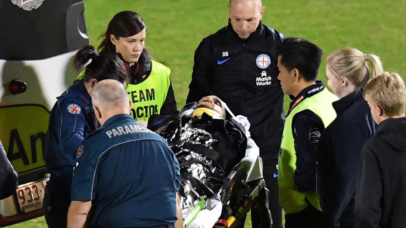 Melbourne City midfielder Luke Brattan in hospital following spinal injury scare in FFA Cup clash