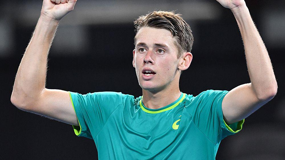 Tennis: Australian teenager Alex De Minaur to face Milos Raonic at Brisbane International