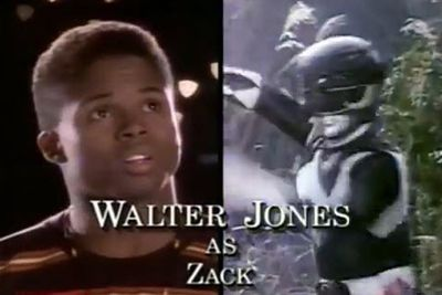 Walter Jones: The Black Ranger/Zack Taylor<br/><br/>Image: Saban Entertainment