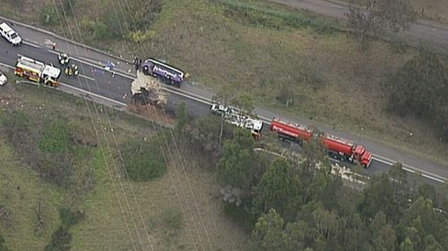 The highway was closed northbound. (9NEWS)