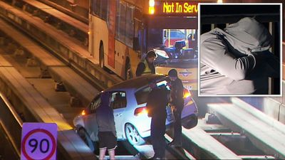 'Dazed' driver crashes car onto busway tracks
