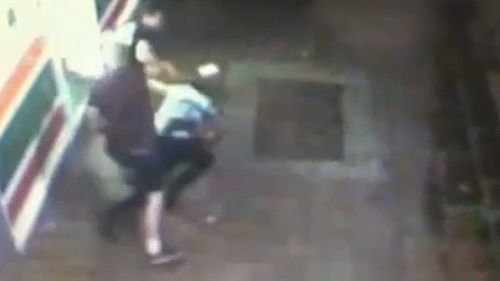 The assault taking place on a Geelong street.