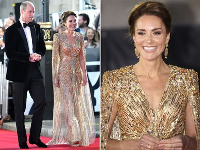 Kate Middleton and Prince William at the premiere of James Bond: No Time to Die, September 2021
