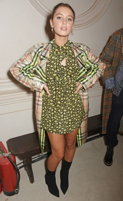 <p>Who: Iris Law</p> <p>The daughter of actor Jude Law and fashion designer/model Sadie Frost.</p> <p>The 17-year-old is the face of Burberry Liquid Lip Velvet Collection and has starred in a Miu Miu campaign. She has also been on the cover of US magazine <em>Teen Vogue.</em></p>