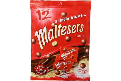 Mini-bag of Maltesers: Almost 2 teaspoons of sugar