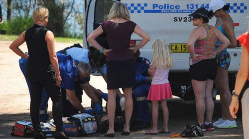 Paramedics were called to the scene just after midday. (Glenn Ellard/Milton Ulladulla Times)