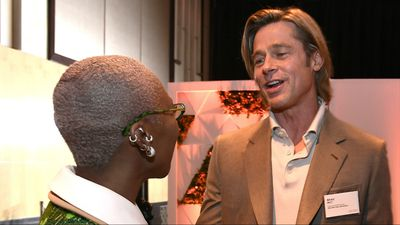Brad Pitt wore a name tag to the Oscars luncheon