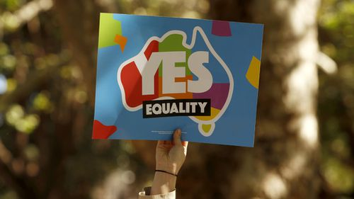 """Mr Howard said that if the postal survey returned a """"yes"""" vote then the government would be stampeded into delivering change. (AAP)"""