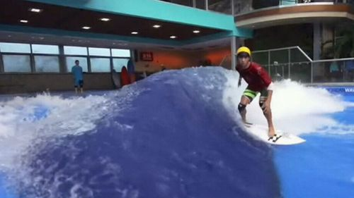 WA's first indoor surf wave will open next month. (9NEWS)