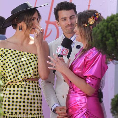 Georgia Love interviews Matt Johnson and Laura Byrne at the Melbourne Cup.