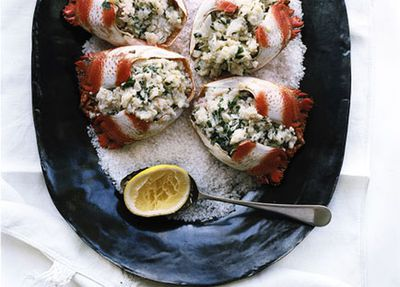 "<a href=""http://kitchen.nine.com.au/2016/05/19/16/36/spanner-crab-salad"" target=""_top"">Spanner crab salad</a><br> <br> <a href=""http://kitchen.nine.com.au/2017/01/12/11/16/in-season-january-spanner-crab-mangosteen-asparagus"" target=""_top"">RELATED: In season January: spanner crab, mangosteen, asparagus</a>"