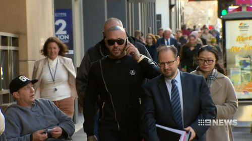 Mitchell ended up pushing and slapping the man before more blows were thrown. Picture: 9NEWS