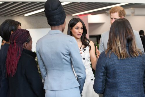 Meghan and Harry met with youth representatives from around the Commonwealth. (PA/AAP)
