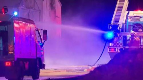 It took more than 70 firefighters to battle the blaze. (9NEWS)