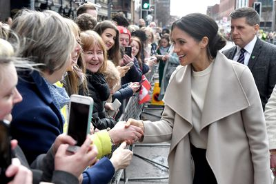 Meghan Markle meets crowds during surprise visit to Ireland