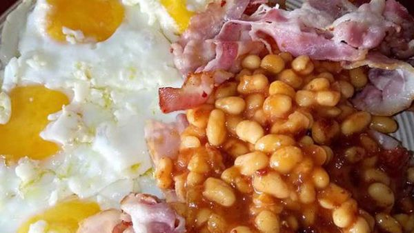 Carol's eggs and beans