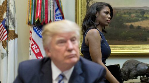 Donald Trump and Omarosa Manigault-Newman.