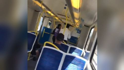 The shocking incident unfolded on a city-bound train from Dandenong.
